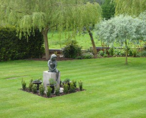 Classical looking soft landscaping, mown to perfection